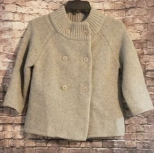 Thick 3/4 Sleeve Short Sweater